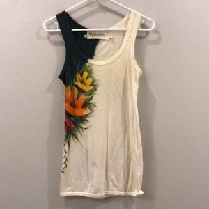 Anthropology painted tank top